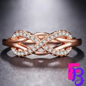 .80 CTW Infinity Wave LOVE Ring
